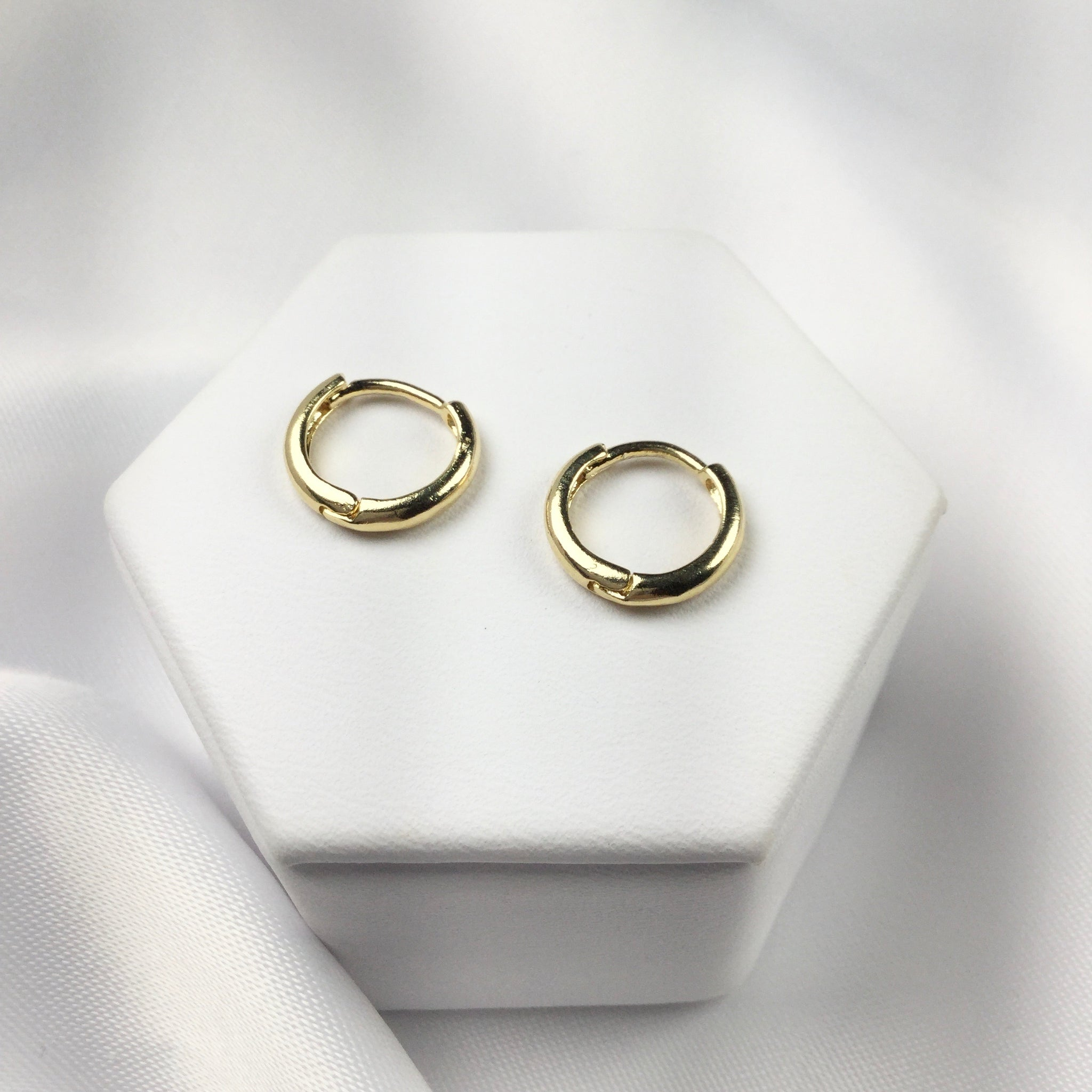 Hoop Earrings Second Hole 18k Gold Plated
