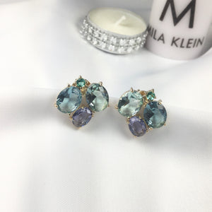 Cocktail Earrings Crystals 18k Gold Plated