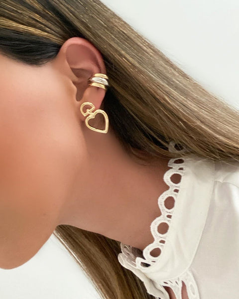 Fashion Heart Earrings 18k Gold plated