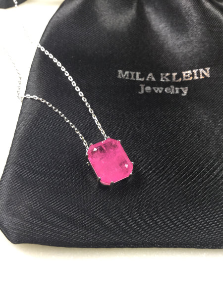 Pink Ruby fusion Necklace
