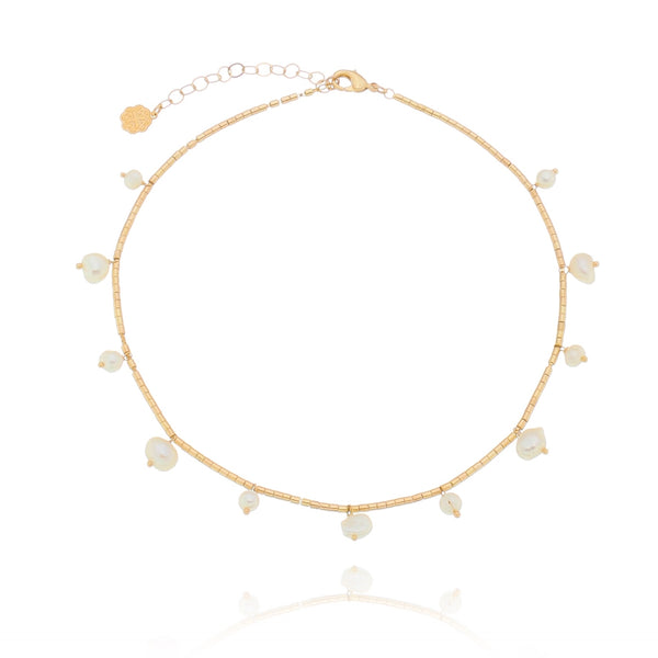 Baroque Freshwater Pearl Choker 18K Gold Plated
