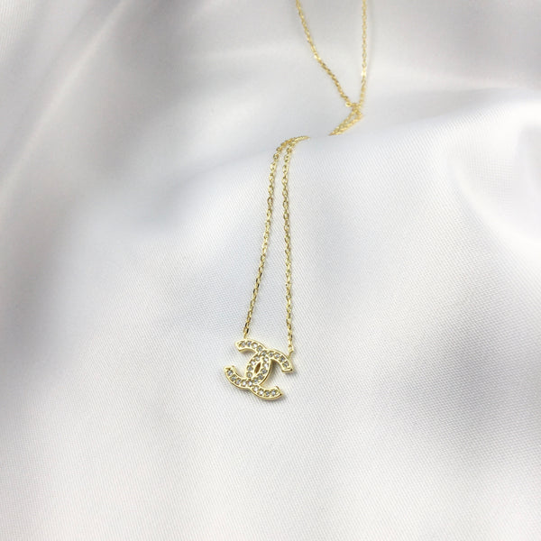 Gold Famous Brand Inspired Necklace 18k Gold Plated
