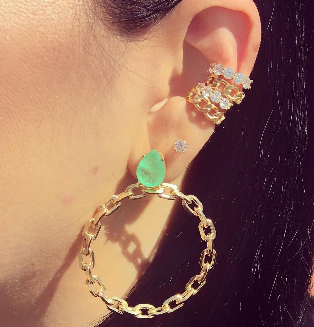 Ear Cuff 18k gold plated inspired - Mila Klein