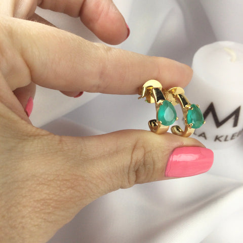Milked Stone Emerald 18k Gold Plated