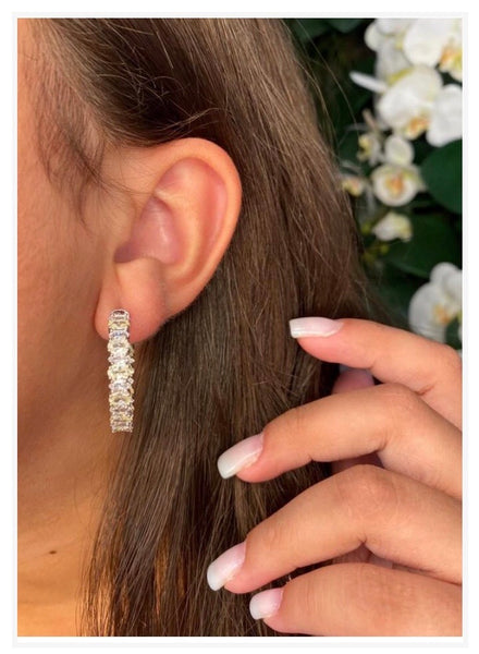 Fancy Hoop Earrings premium CZ