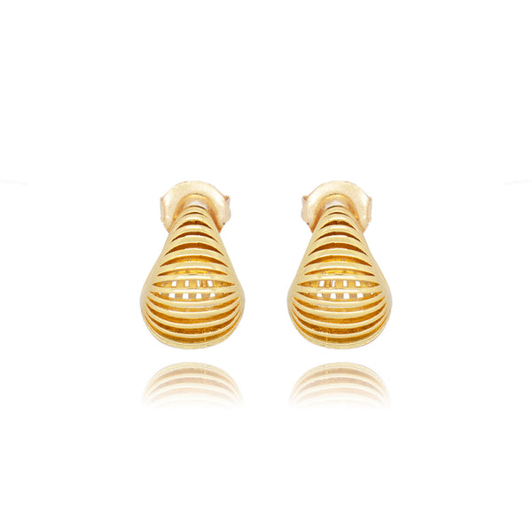 Modern Boho Hoop Earrings 18K Gold Plated