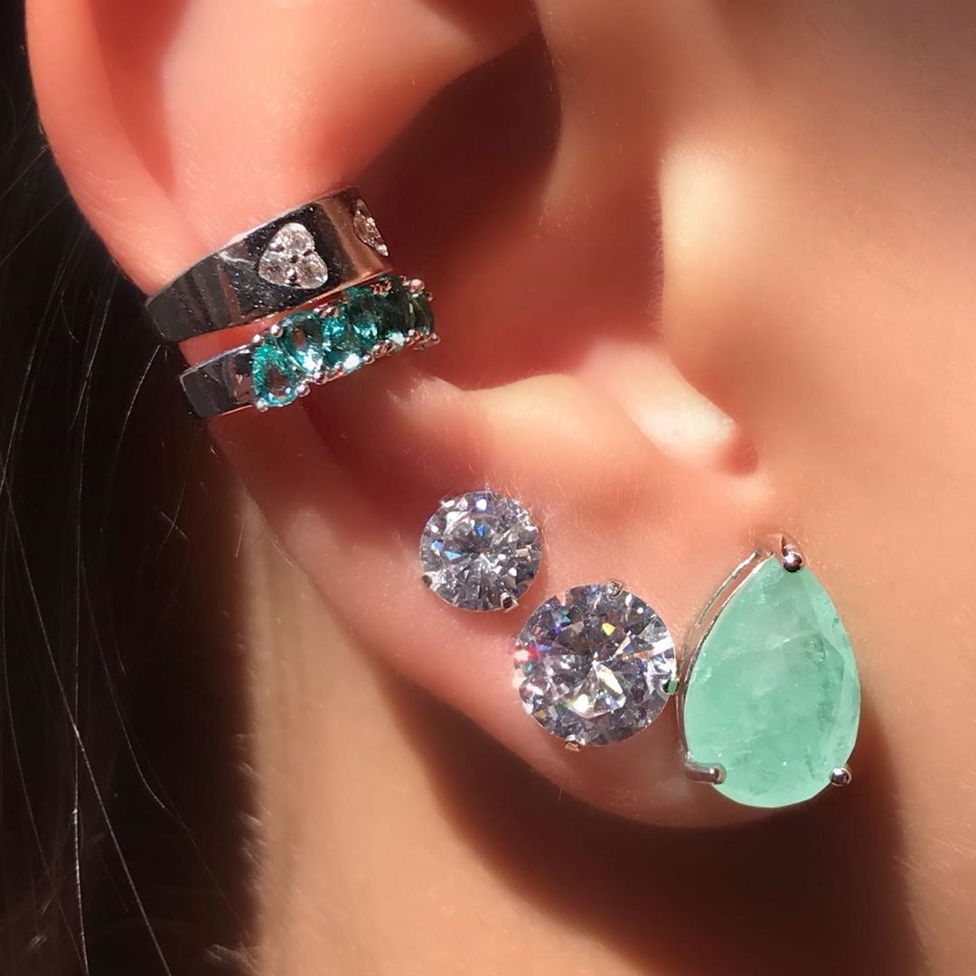 Drop earring tourmaline fusion