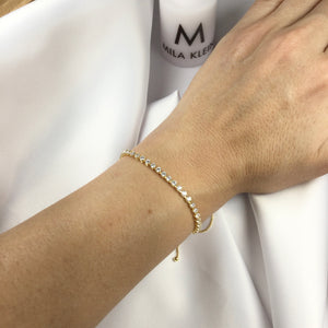 Tennis Riviera Bracelet 18k Gold Plated