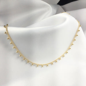 Delicate Choker Sphere 18k Gold Plated