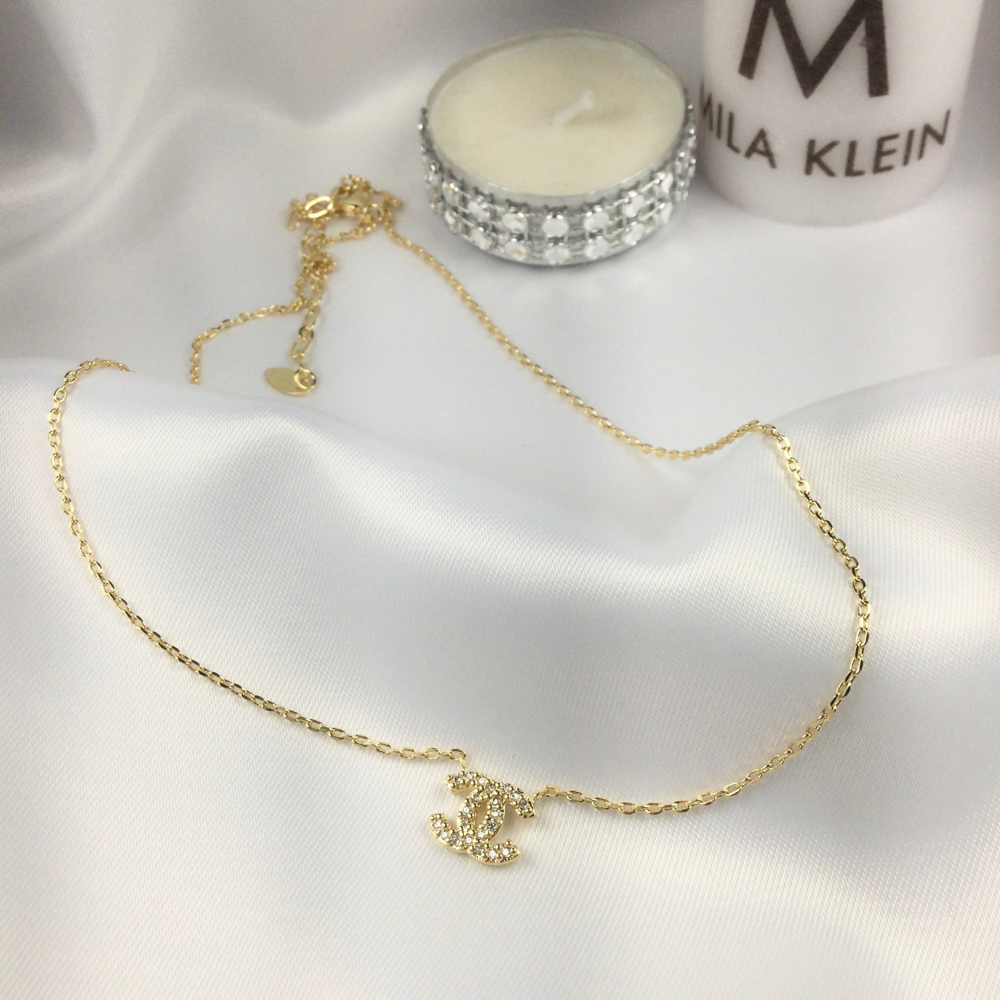 Small Famous Brand Inspired Necklace 18k Gold Plated