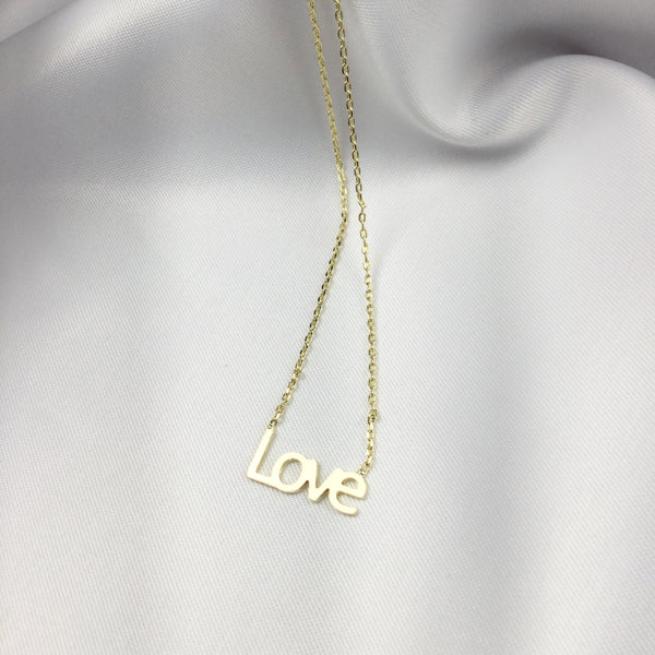 Minimalist Love Necklace 18k Gold Plated