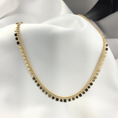 Gypsy Choker Necklace 18K Gold Plated