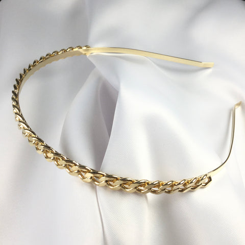 Link Hair Band 18K gold plated
