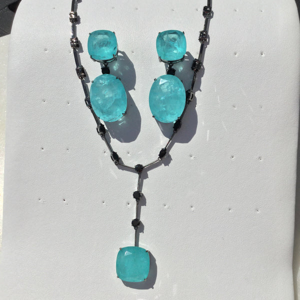 Niagara Blue Necklace Fusion - Mila Klein