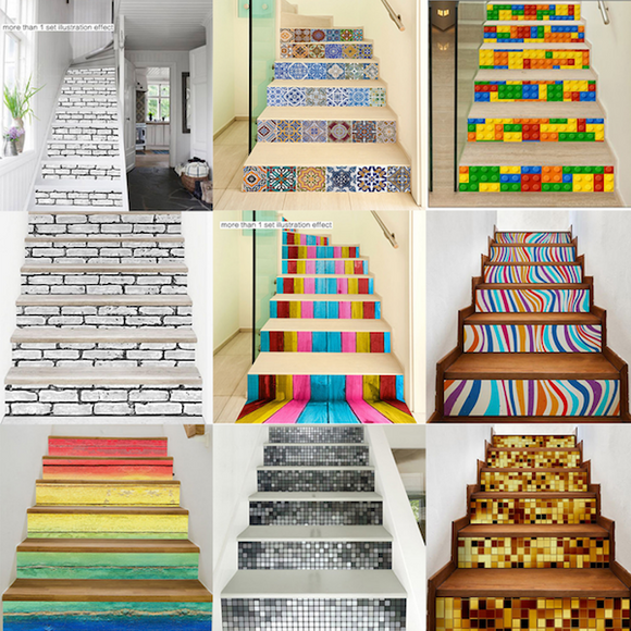 3D Self-adhesive Stickers (Stairs or Walls) - 6 Pcs/Set