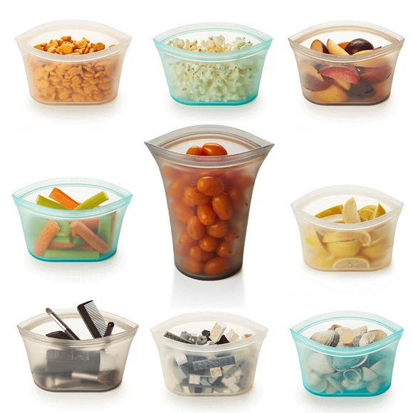 Zip Top Plastic-Free Reusable Container