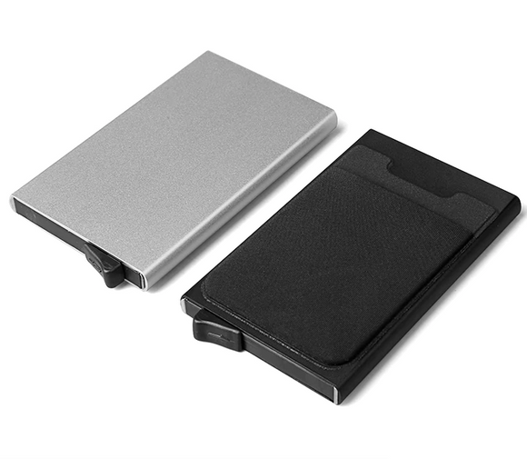 Automatic Anti-Theft Card Organizer Metal Wallet