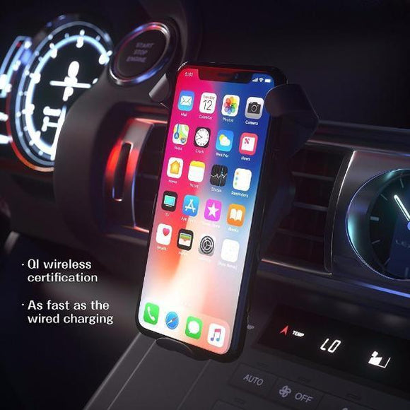 Extra Fast QI wireless Charger & Phone Holder For Car