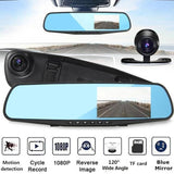 Car Rear View Mirror Kit HD Front Rear Camera