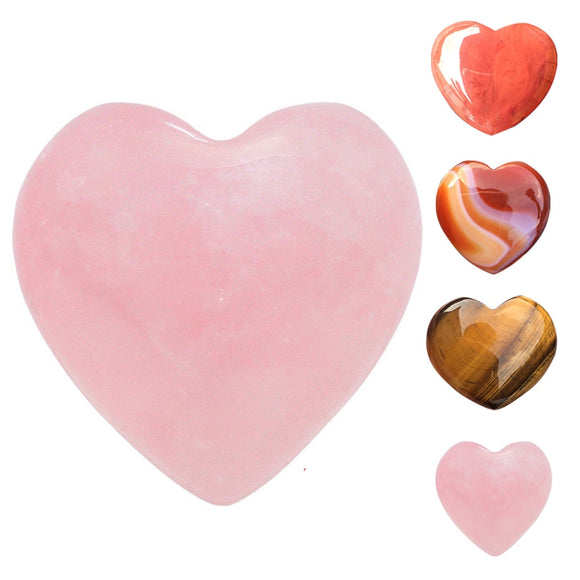 Heart Shape Smooth Gemstones Chakra Stone