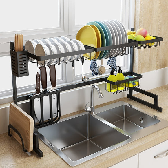 Black Stainless Steel Drain Rack