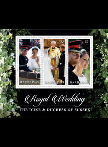 Barbados Royal Wedding 3 x $3 value miniature sheet  19/11/18