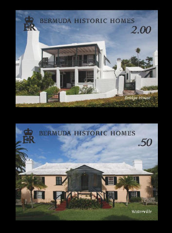 Bermuda Historic Houses 4 value set 21/2/19