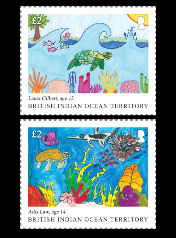 British Indian Ocean Island Territory Childrens Stamp Competition  4 value set  4/9/18