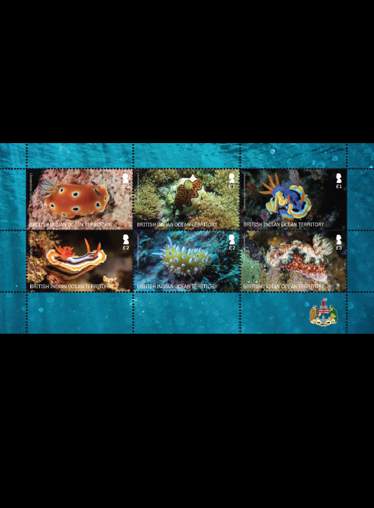 Seaslugs 6 value  Minisheet 22/2/21