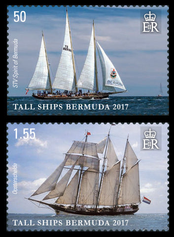 Bermuda Tall Ships 4 value set 31/8/17