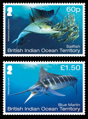 British Indian Ocean Territory Megafauna 6 value set 8/6/17