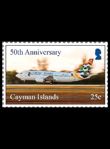 Cayman Airways 10 value  self-adhesive retail booklet 17/8/18