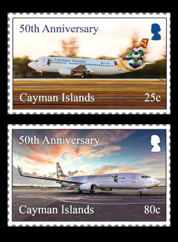 Cayman Airways 4 value set  7/8/18