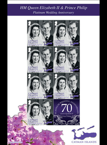 Cayman Islands  Platinum Wedding Anniverary of HM Queen Elizabeth II & HRH Prince Philip  4 sheetlet set 29/11/17