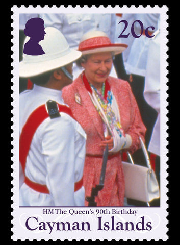 Cayman Islands HM Queen Elizabeth II 90th Birthday 4 value set 9/11/16