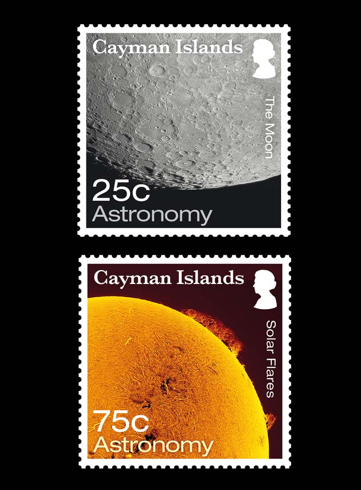 Cayman Islands Astronomy 4 value set  2/6/17