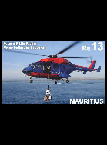 Mauritius Rescue & Life Saving Helicopter Squadron Rs13 12/3/19