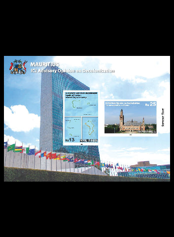 Mauritius  ICI Advisory Opinion 2 valve miniature sheet  23/8/19