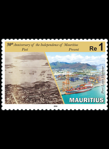 Mauritius 50th Anniversary of  Independence of Mauritius 3 value miniature sheet 12/3/18