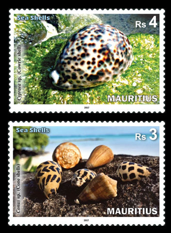 Mauritius Sea Shells 4 value set  9/10/17