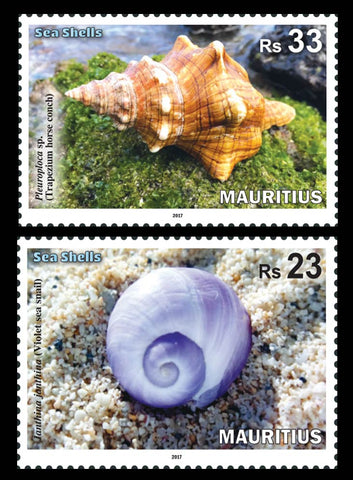 Mauritius Sea Shells 4 value  miniature sheet 9/10/17