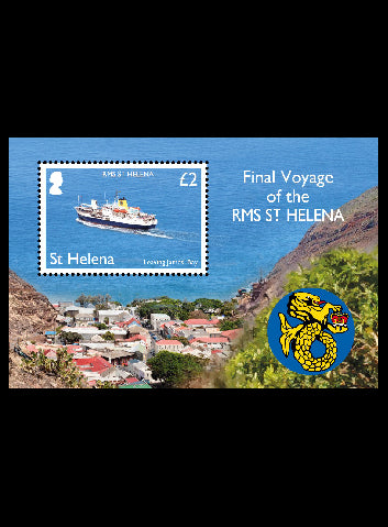 St Helena RMS St.Helena 1 value miniature sheet  10/2/18