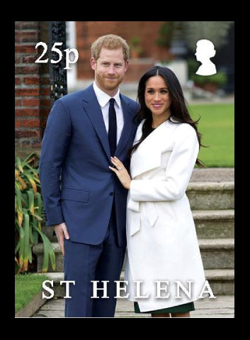 St Helena Royal Wedding 4 value set  19/5/18