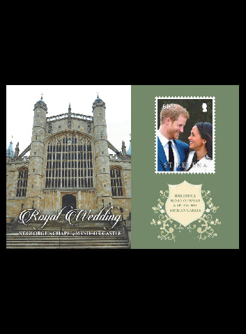 St Helena Royal Wedding 1 value miniature sheet  19/5/18