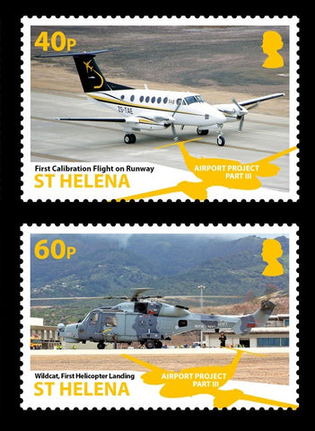St Helena Airports III 4 value set  21/5/18