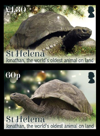 St Helena Jonathan, World's Oldest Land Animal 4 value set  15/9/19