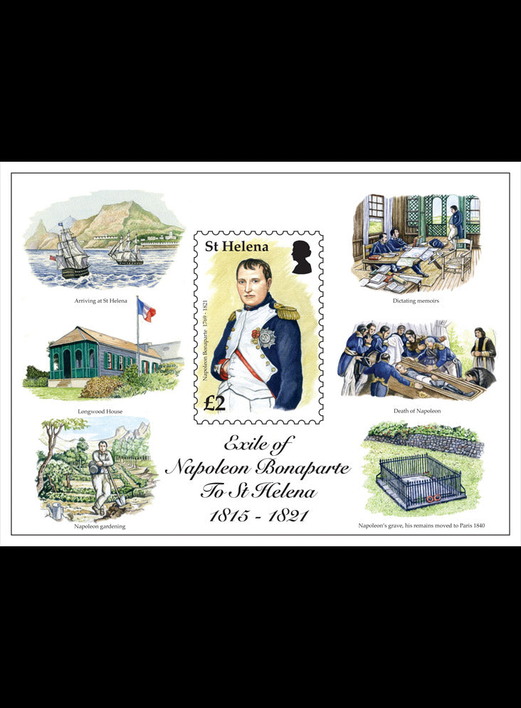 St Helena Exit of Napoleon Bonaparte 1 value miniature sheet
