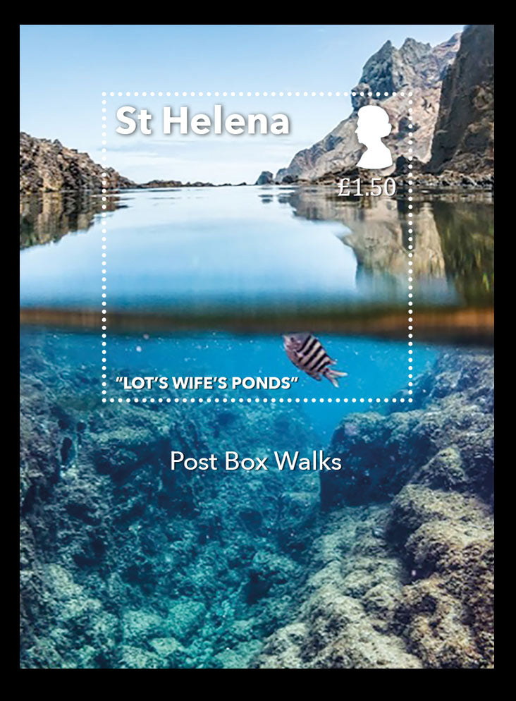 St Helena Post Box Walks £1.50 miniature sheet 16/10/17
