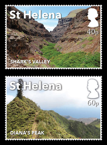 St Helena Post Box Walks 4 value set 16/10/17