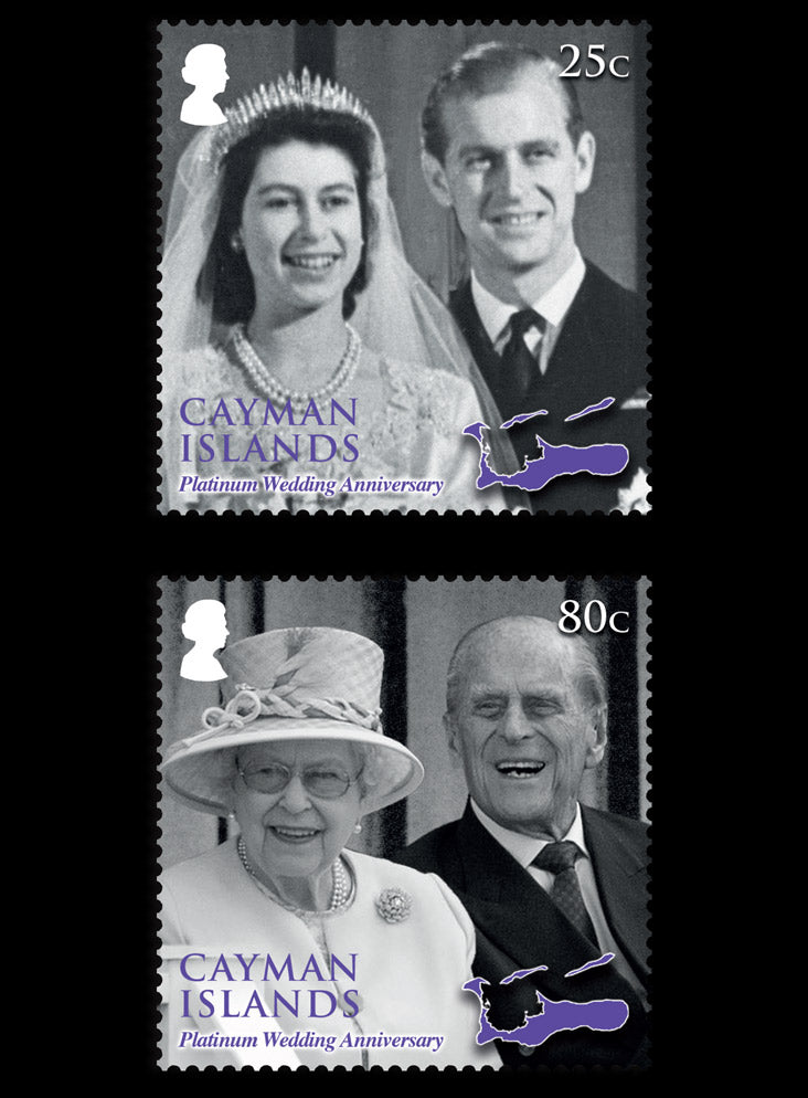 Cayman Islands  Platinum Wedding Anniverary of HM Queen Elizabeth II & HRH Prince Philip  4 value set 29/11/17